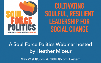 Cultivating Soulful, Resilient Leadership for Social Change — Webinar and Zoom Chat with Heather Mizeur
